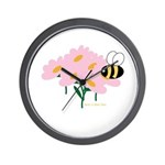 Twin B Bee Wall Clock