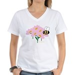 Twin B Bee Women's V-Neck T-Shirt
