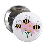 Triplet Bees Button