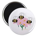 Triplet Bees Magnet