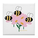 Triplet Bees Tile Coaster