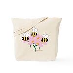 Triplet Bees Tote Bag