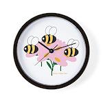 Triplet Bees Wall Clock
