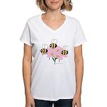 Triplet Bees Women's V-Neck T-Shirt