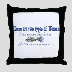 Two Types Throw Pillow