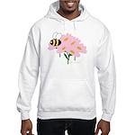 Triplet Bee Pink Flowers Hooded Sweatshirt