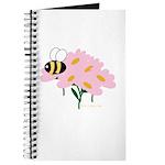 Triplet Bee Pink Flowers Journal