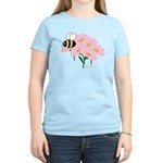 Triplet Bee Pink Flowers Women's Light T-Shirt