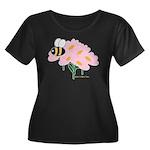 Triplet Bee Pink Flowers Women's Plus Size Scoop N