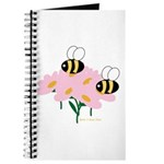 Twin Bees on Flowers Journal