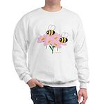 Twin Bees on Flowers Sweatshirt