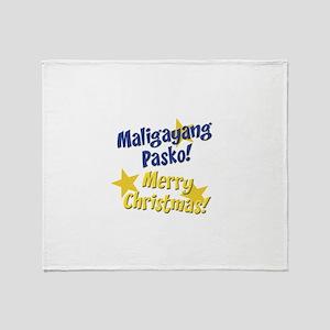 maligayangpasko2 copy Throw Blanket