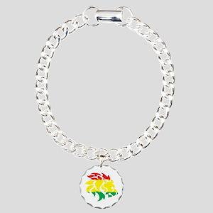 Rasta Lion Charm Bracelet, One Charm