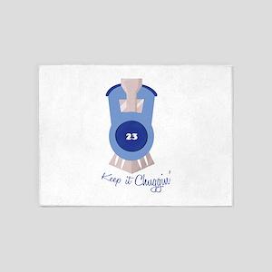 Keep It Chugging 5'x7'Area Rug