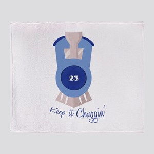 Keep It Chugging Throw Blanket