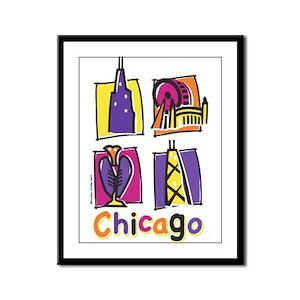 Chicago Kids Framed Panel Print