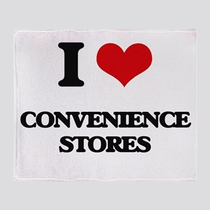 I love Convenience Stores Throw Blanket