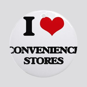 I love Convenience Stores Ornament (Round)