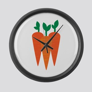 Carrots Large Wall Clock