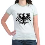 Gothic Prussian Eagle Jr. Ringer T-Shirt