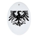 Gothic Prussian Eagle Oval Ornament