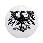 Gothic Prussian Eagle Ornament (Round)