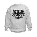 Gothic Prussian Eagle Kids Sweatshirt