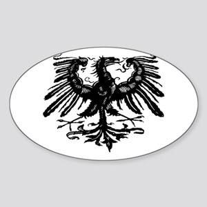 Gothic Prussian Eagle Oval Sticker