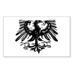 Gothic Prussian Eagle Rectangle Sticker