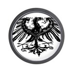 Gothic Prussian Eagle Wall Clock