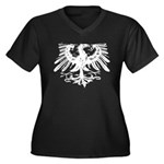Gothic Prussian Eagle Women's Plus Size V-Neck Dar