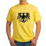 Gothic Prussian Eagle Yellow T-Shirt