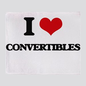 I love Convertibles Throw Blanket