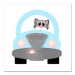 Driving Cat Square Car Magnet 3
