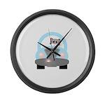 Driving Cat Large Wall Clock