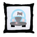 Driving Cat Throw Pillow