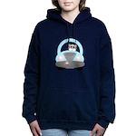 Driving Cat Women's Hooded Sweatshirt