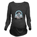 Driving Cat Long Sleeve Maternity T-Shirt