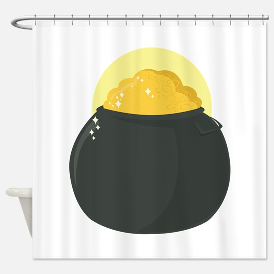 Gold Pot Shower Curtain