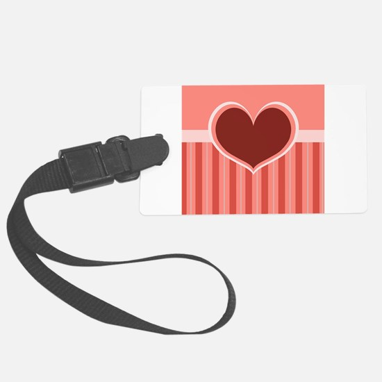 Heart on Stripes Luggage Tag