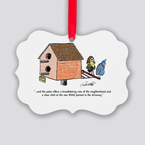 Flippin' The Birdhouse Picture Ornament