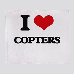 I love Copters Throw Blanket