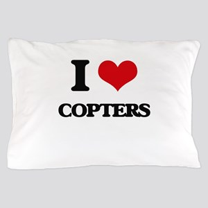 I love Copters Pillow Case