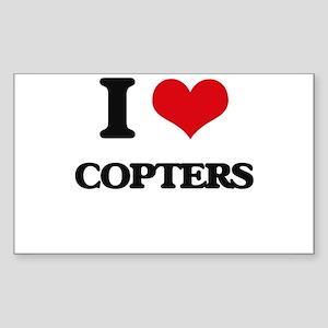 I love Copters Sticker