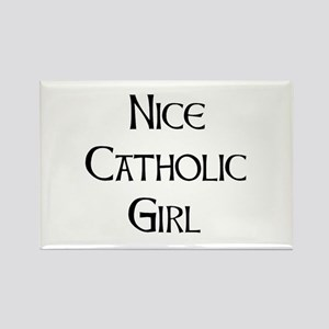 catholic girl Rectangle Magnet
