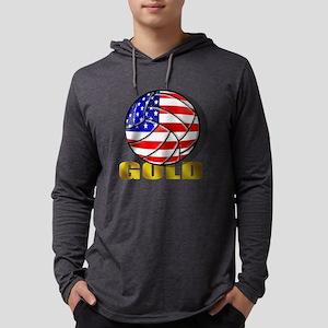 USA Volleyball Mens Hooded Shirt