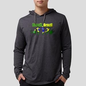 Volleyball Brazil Mens Hooded Shirt