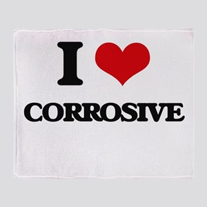I love Corrosive Throw Blanket