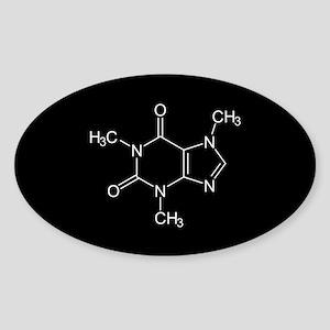 Caffeine Molecule Sticker (Oval)