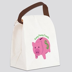 Every Penny Counts Canvas Lunch Bag